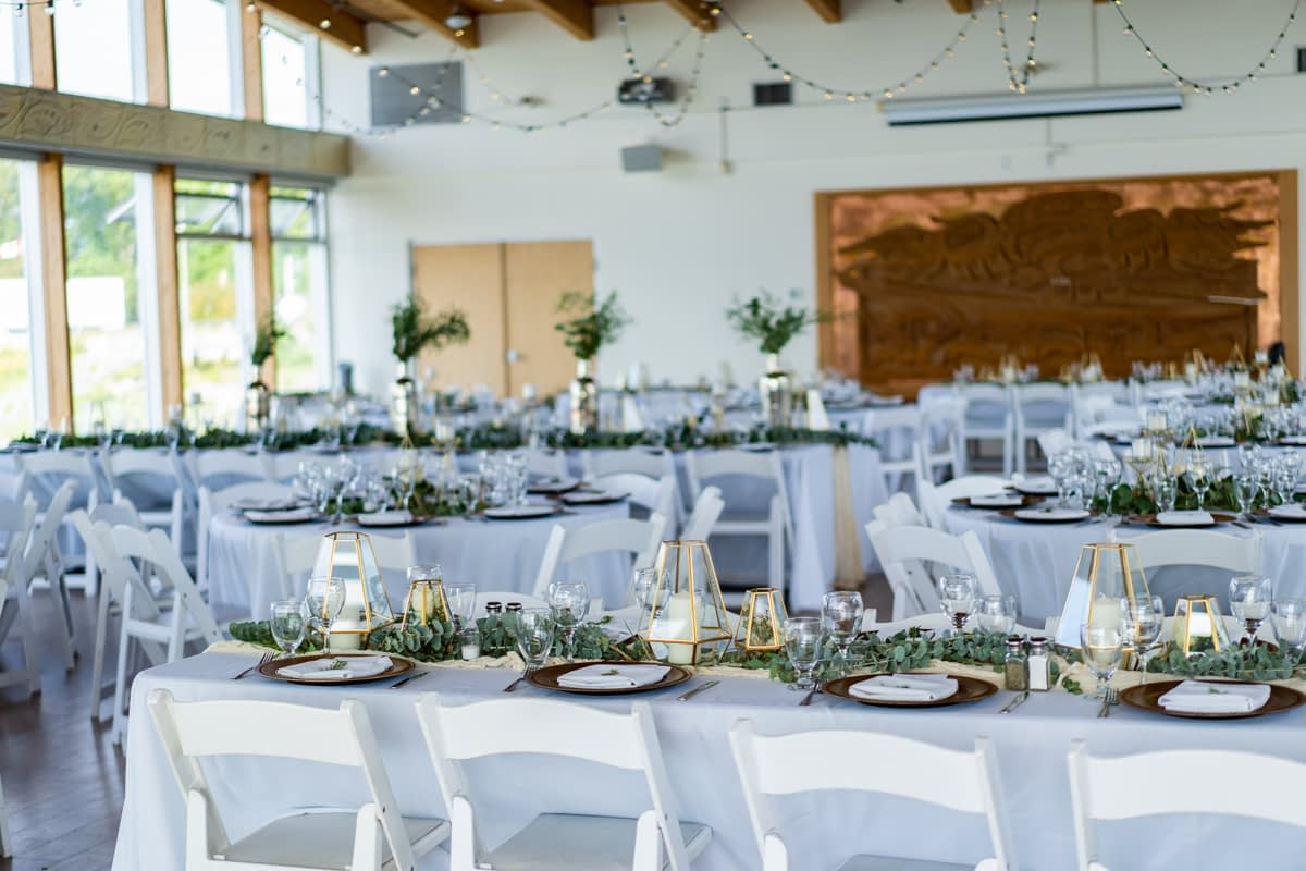 UBC Boathouse Wedding Reception Space