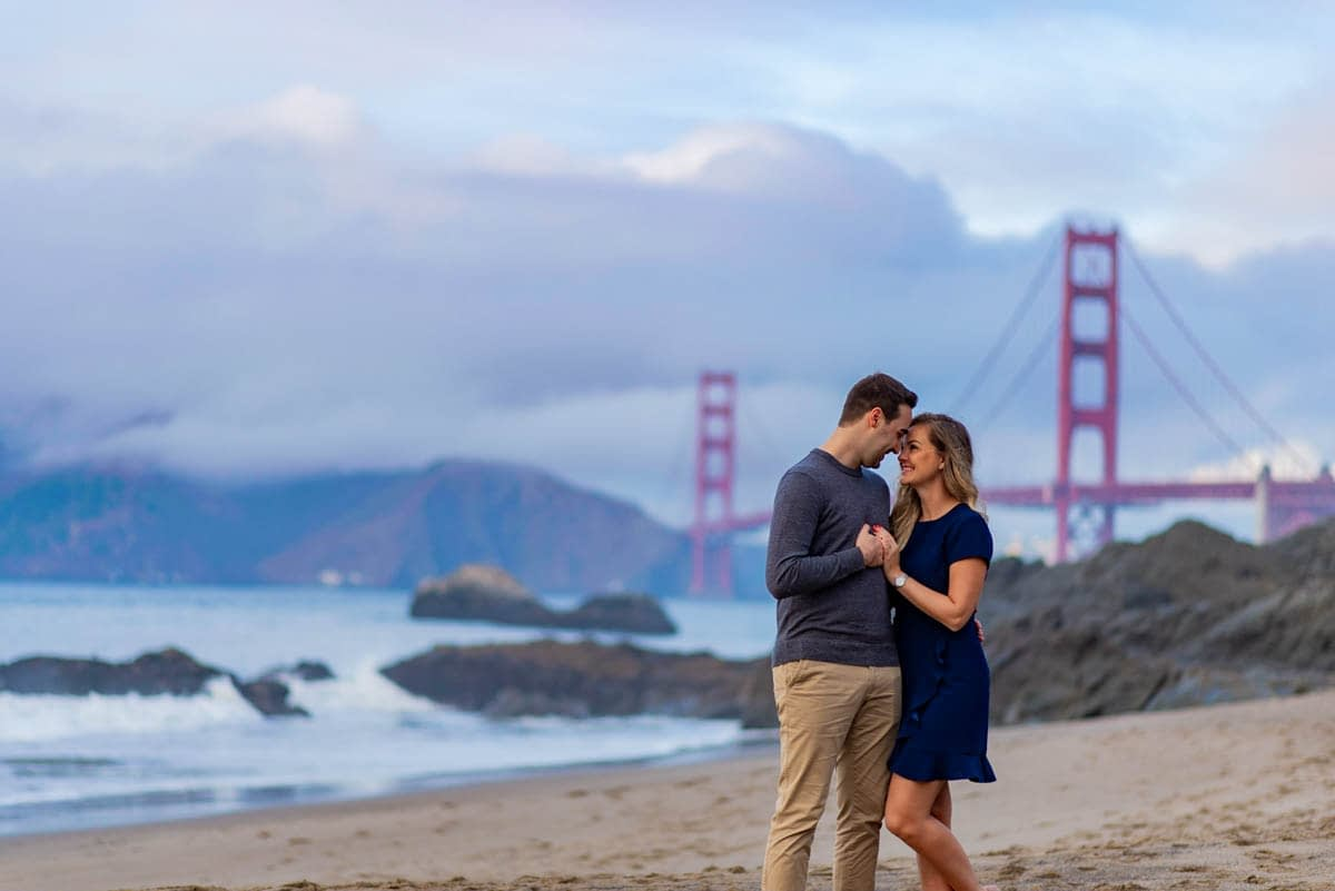 Baker Beach engagement photo