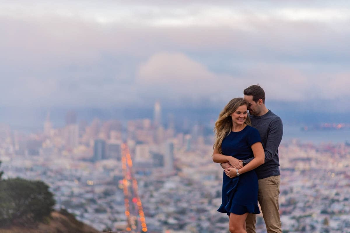 Twin Peaks Engagement Photo