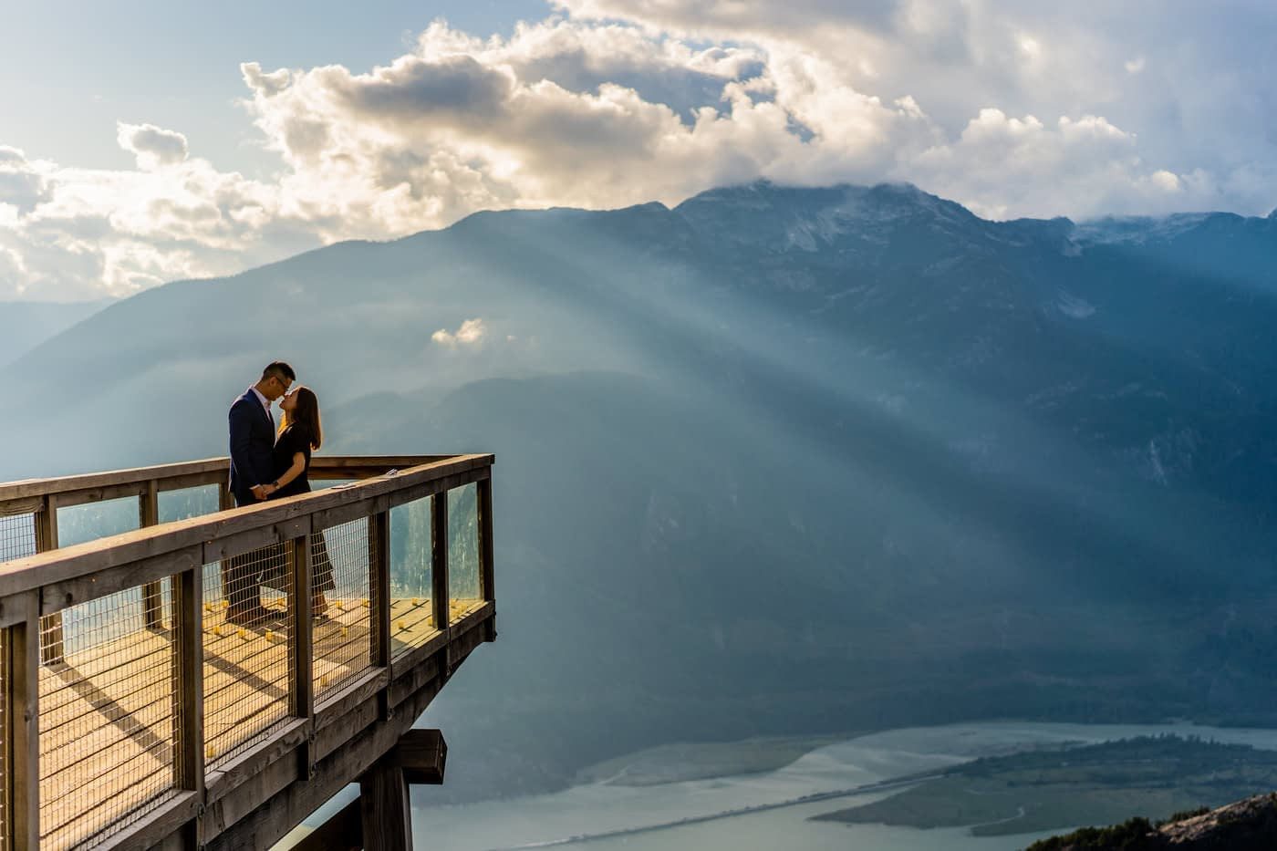 Sunset at Sea to Sky Gondola for an engagement shoot with Daniel and Jasmine