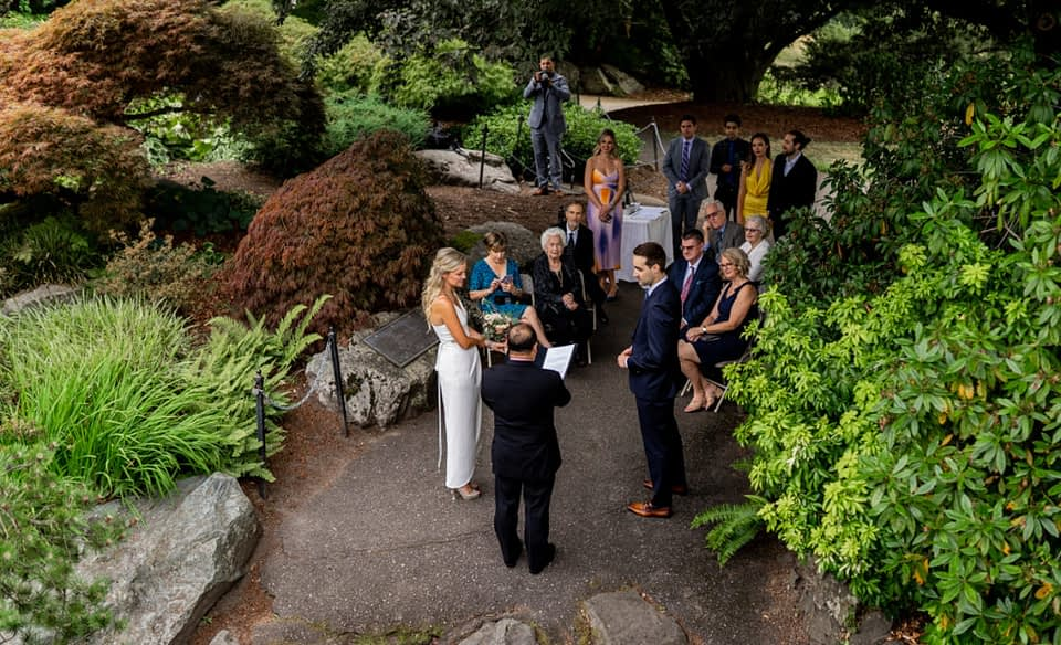 Outdoor micro wedding at Queen Elizabeth Park