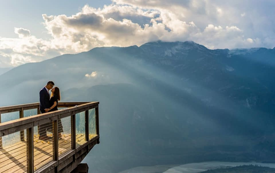 Blue skies and sunset for Sea to Sky Gondola proposal