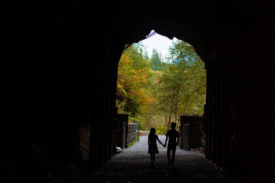 Couple in the Othello Tunnels