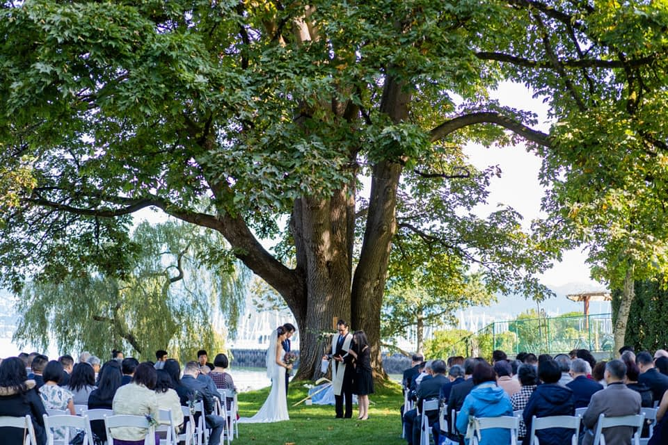 Brock House outdoor ceremony space