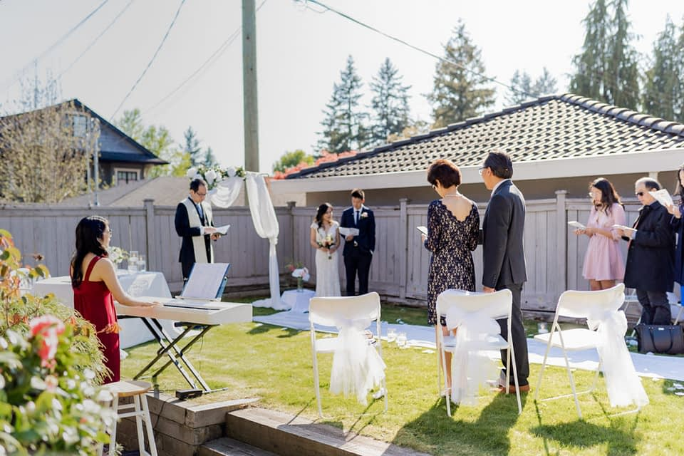 Backyard wedding Vancouver during Coronavirus