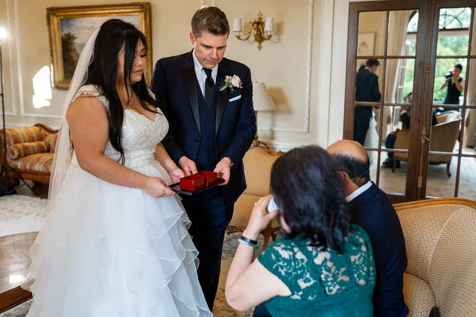 tea ceremony in the Drawing Room at Hycroft Manor